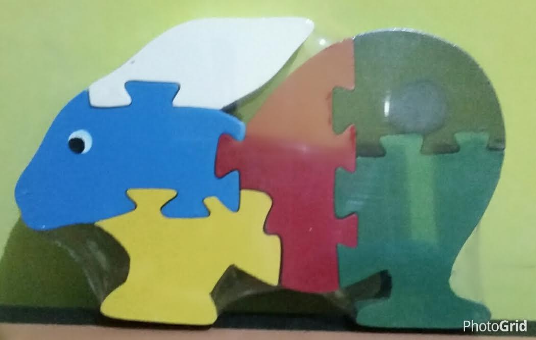 Mainan Puzzle 3D Kelinci