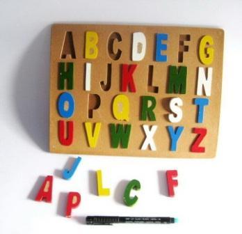 maina puzzle huruf besar