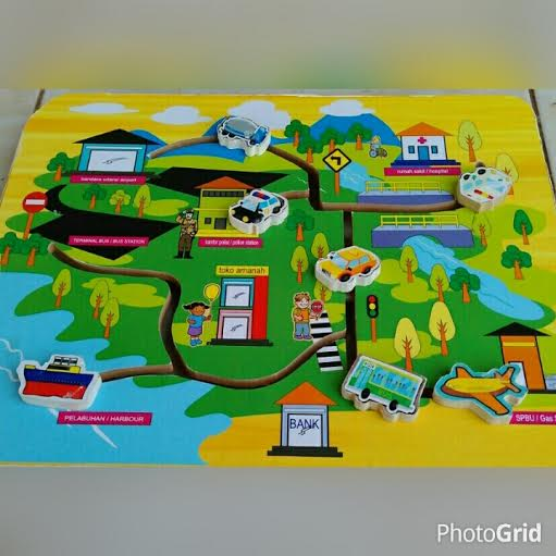 mainan maze transport