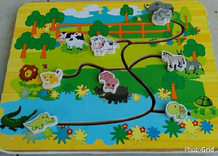 mainan maze zoo