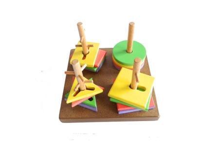 mainan edukatif anak menara kunci
