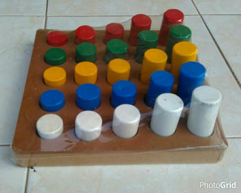 mainan edukasi anak pasak silinder