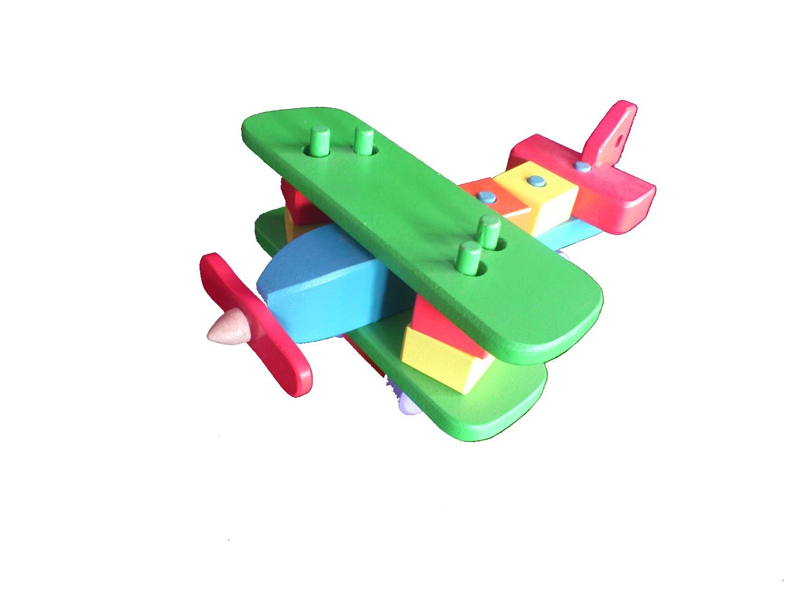mainan mainan edukatif anak balita pesawat bongkar-