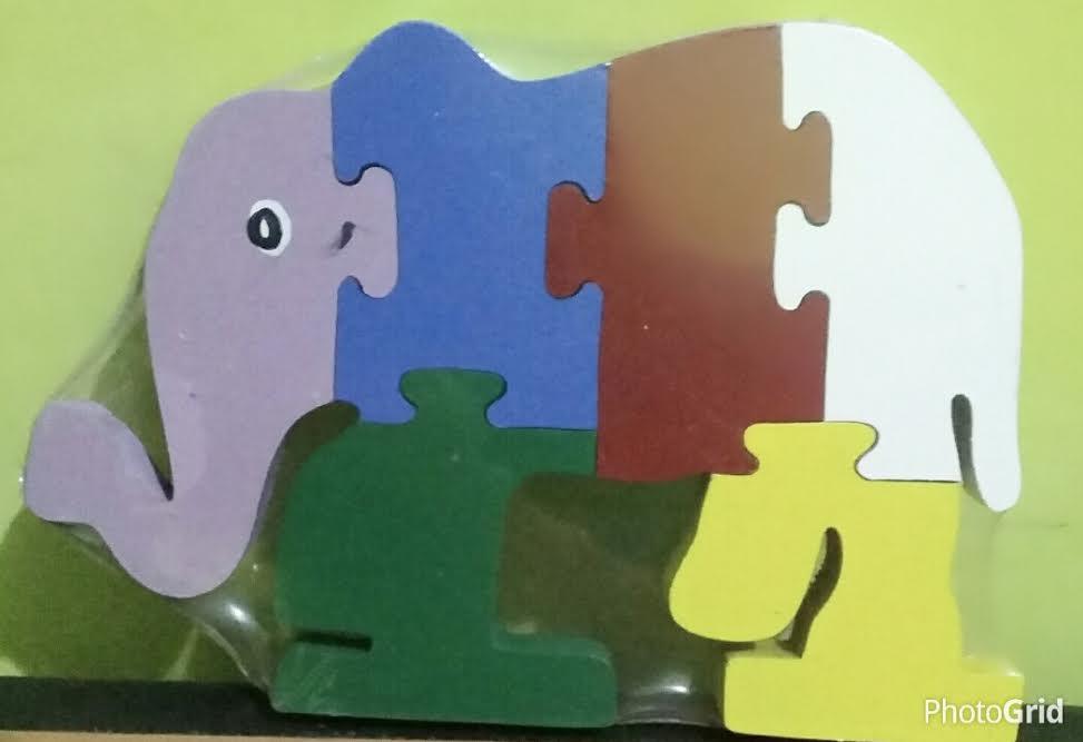 mainan puzzle 3D Gajah