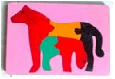 puzzle kuda dan anak