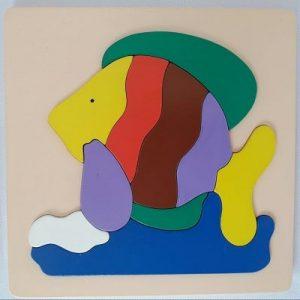 Mainan Edukasi Anak Puzzle hewan binatang ikan-min