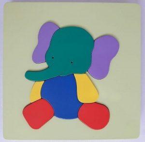 mainan edukasi anak puzzle hewan binatang gajah-min