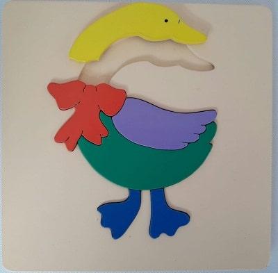 mainan edukatif anak puzzle hewan binatang bebek-min