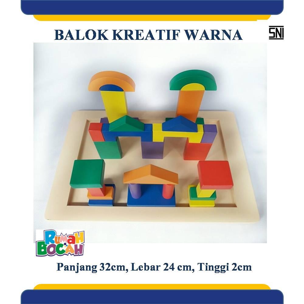 Mainan Edukatif Balok Kayu