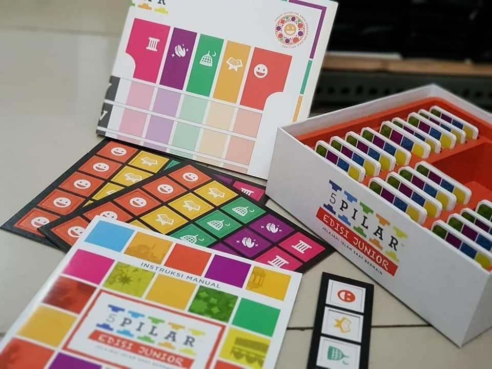 board game muslim 5 pilar edisi junior