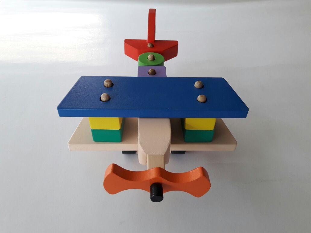 Jual Mainan Anak Dari Kayu Balok pesaawat