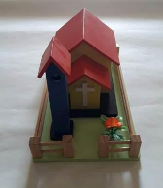 Jual Mainan Anak Dari Kayu miniatur gereja kristen