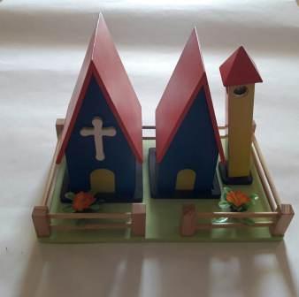 Jual Mainan Edukatif Jogja Miniatur gereja katolik