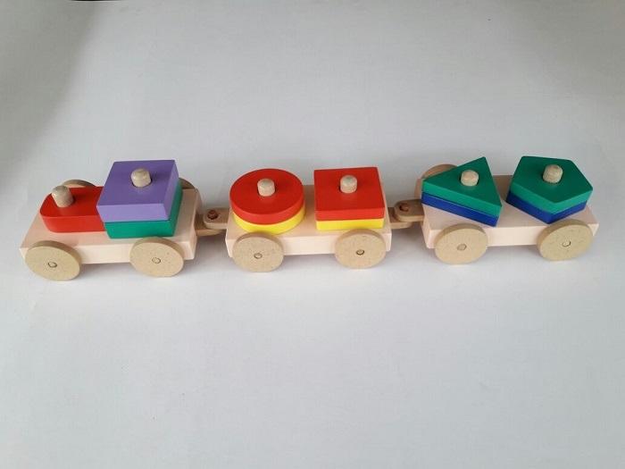 Mainan Edukatif Balok Kereta