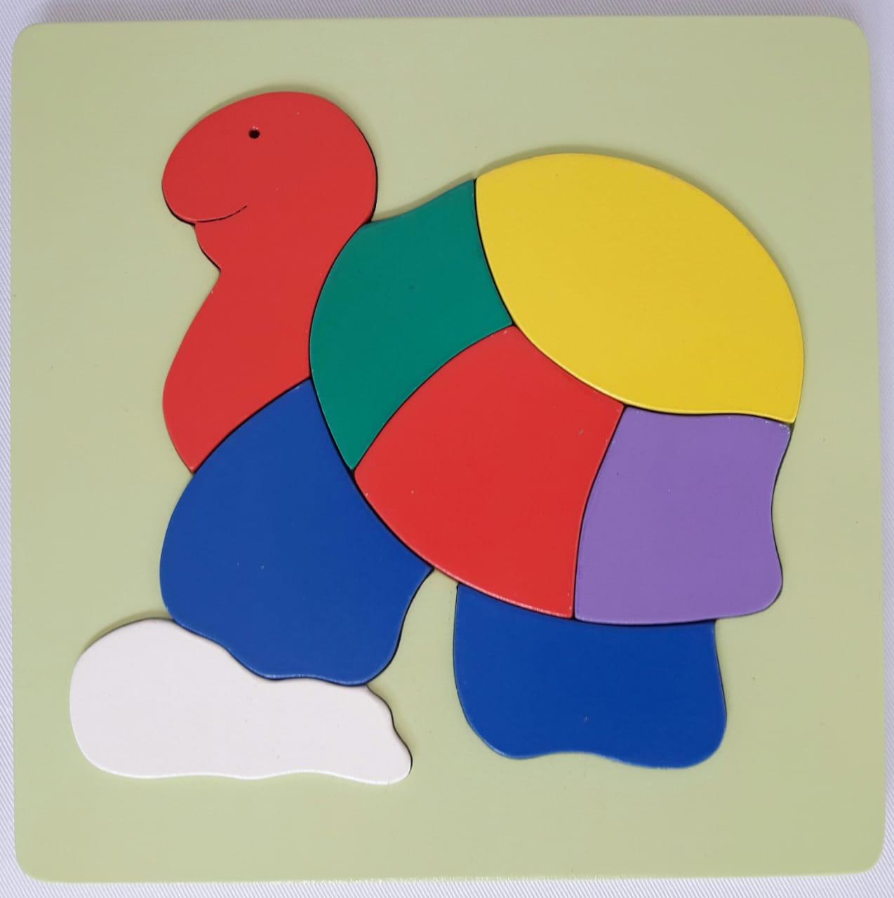Jual Puzzle Kayu Murah Puzzle hewan binatang kura - kura