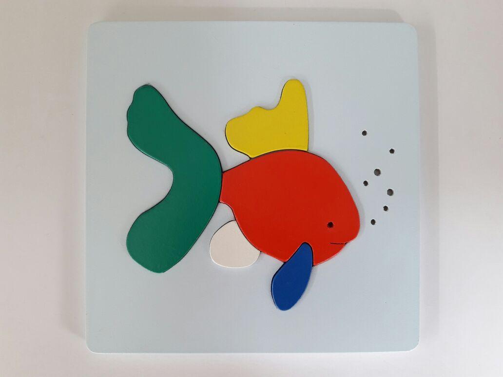 mainan edukatif anak puzzle hewan binatang ikan