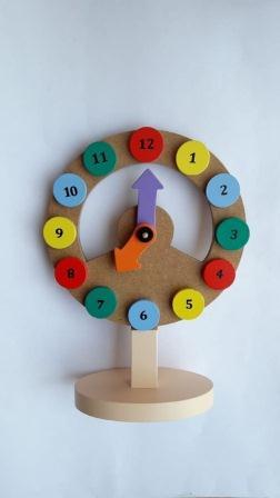 Mainan Edukasi Anak Usia 4 Tahun Jam kayu Edukatif