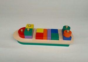 Mainan Edukasi Anak Balok Kapal Bongkar Pasang