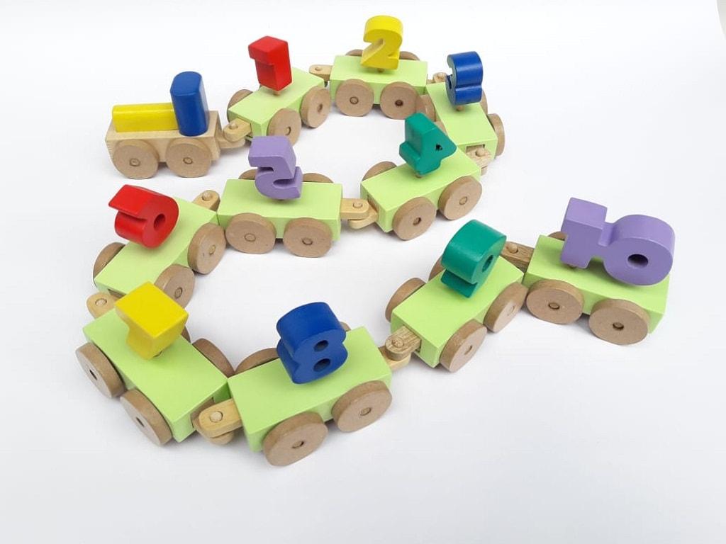 Mainan Edukasi Balok Kayu Kereta