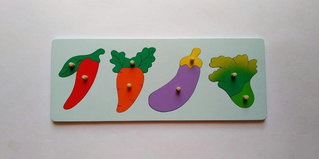 Jual Mainan Anak Edukatif Online puzzle sayur sayuran