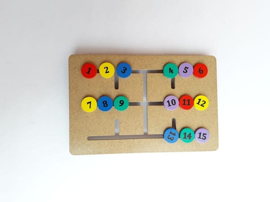 Jual Mainan Balok Kayu Murah maze alur angka
