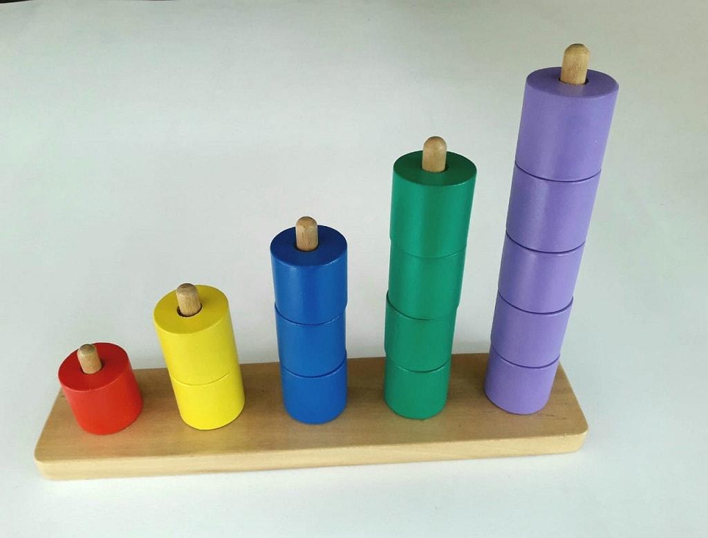 Jual Mainan Balok menara silinder