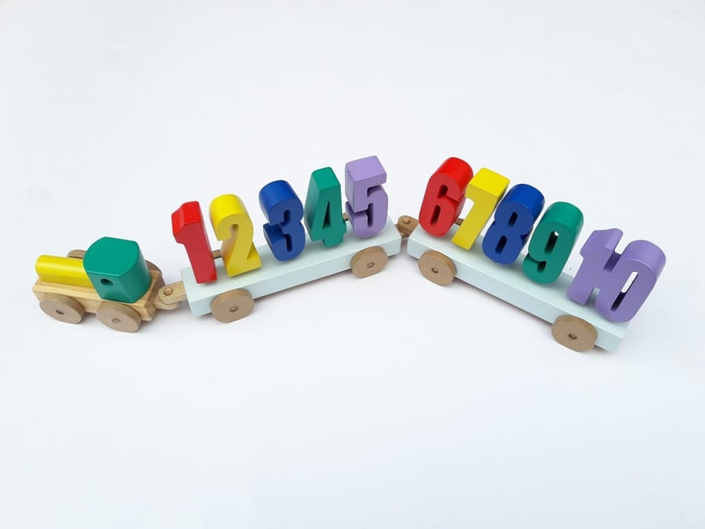 Jual Mainan Edukasi Untuk Balita balok kereta angka
