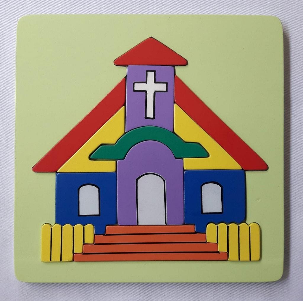 Puzzle Rumah Ibadah Gereja kristen