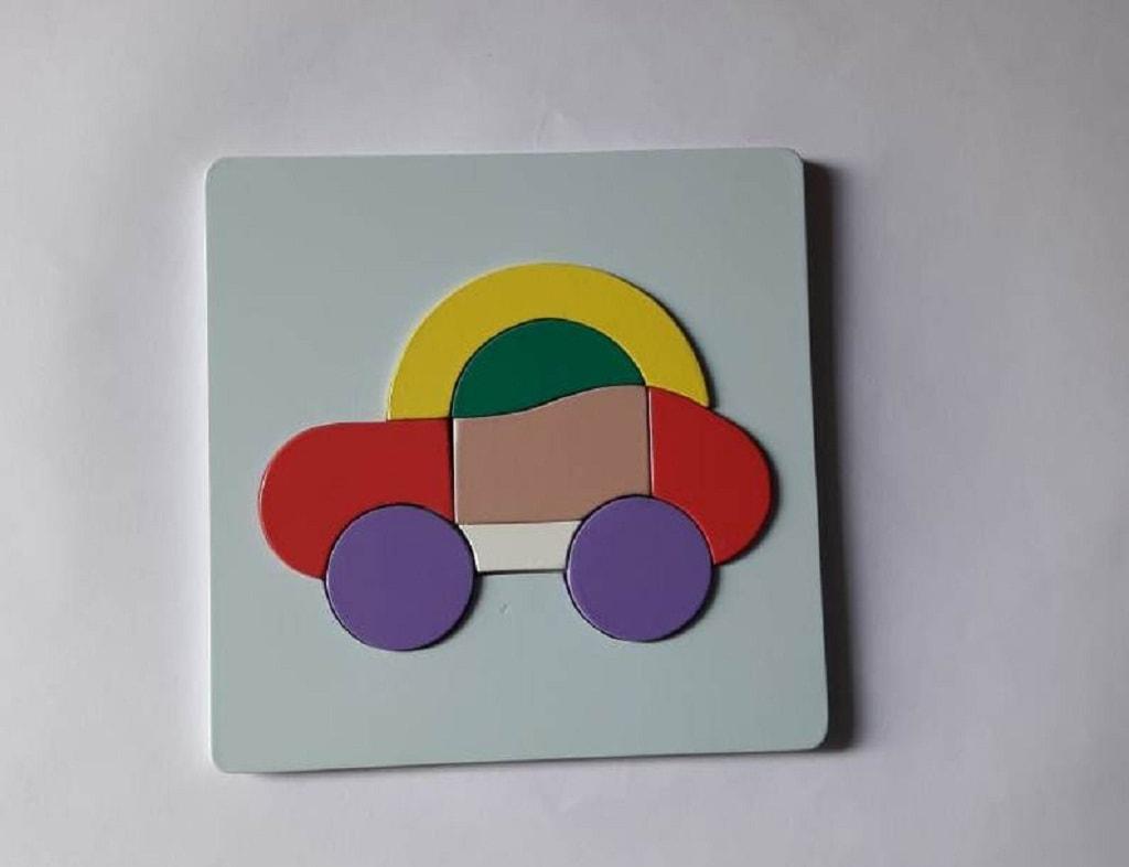 Puzzle mobil Kayu Untuk Anak-