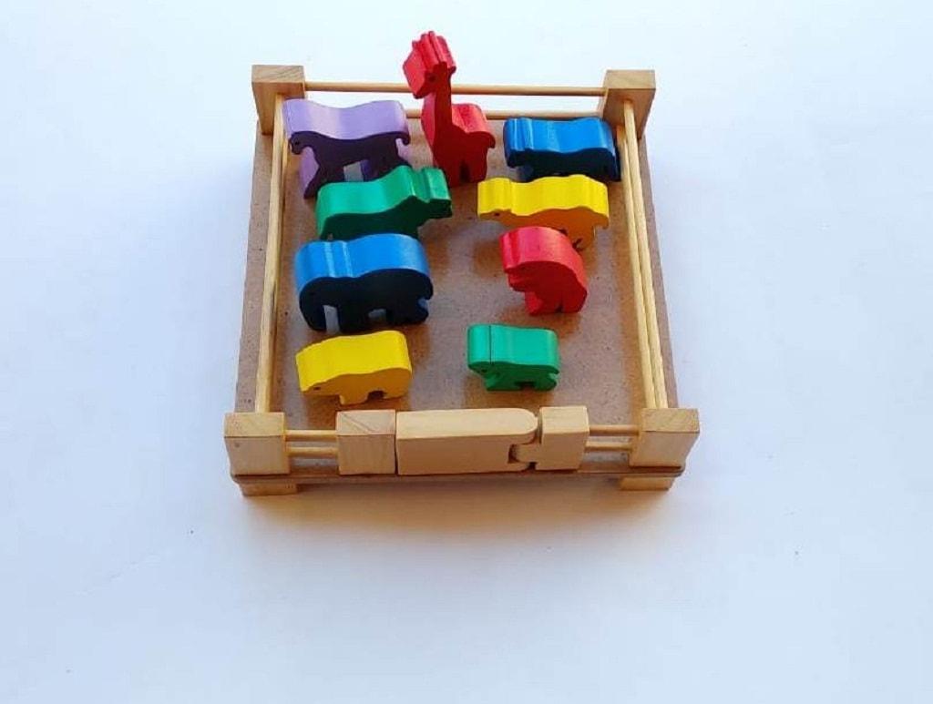Toko Mainan Balok Kandang Binatang