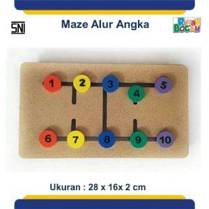 Permainan edukatif maze angka