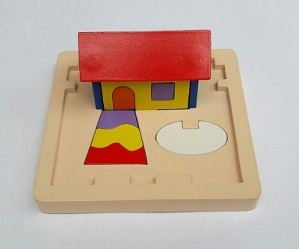 jual Puzzle rumah 3 dimensi