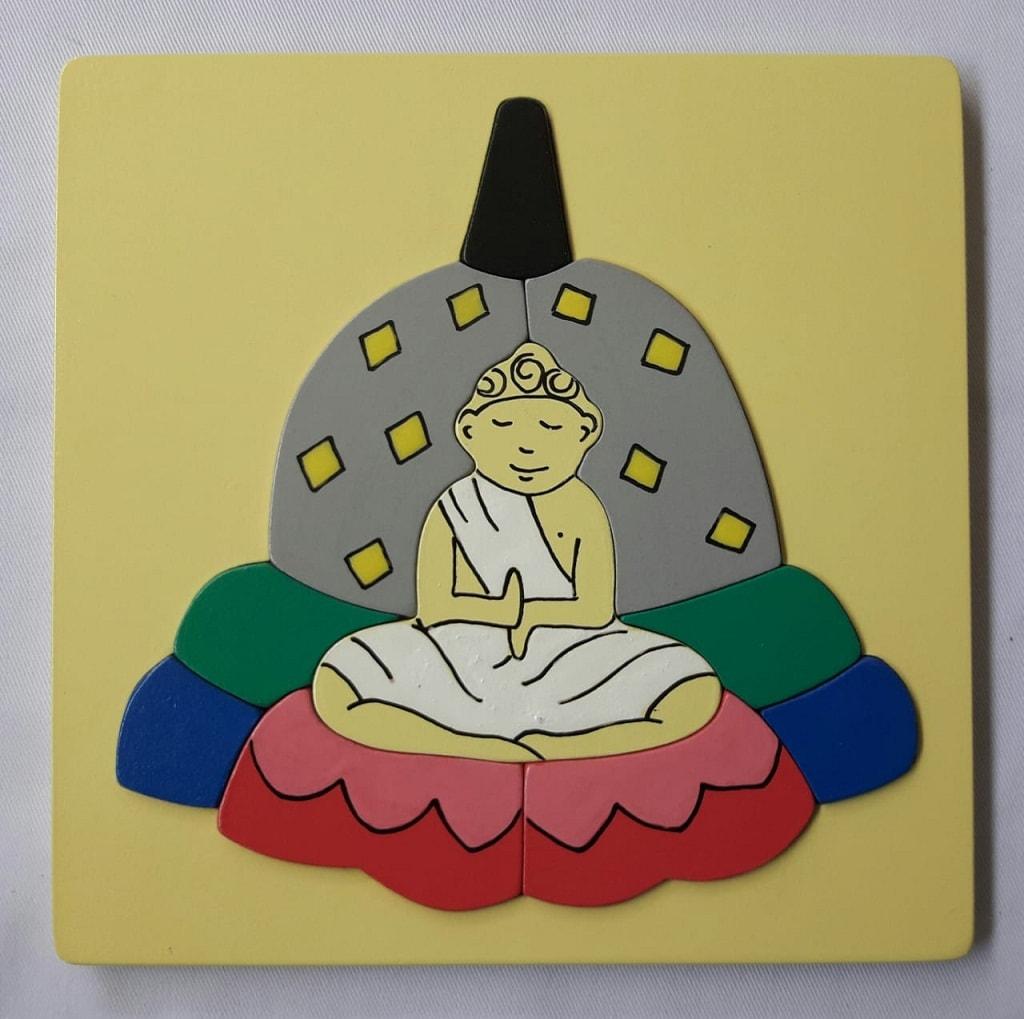 puzzle rumah ibadah Budha
