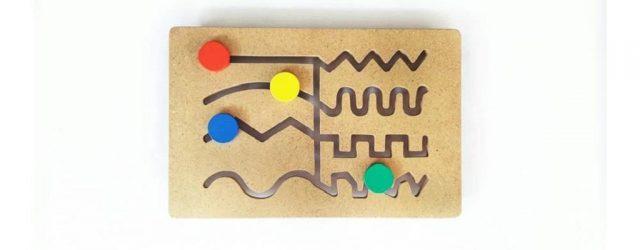 Jual Balok Kayu Mainan Maze Belajar Menulis