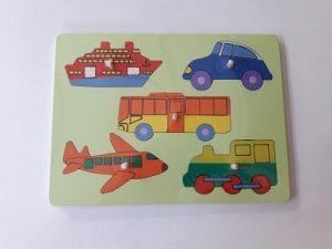 Jual Puzzle Kayu kendaraan untuk anak Murah