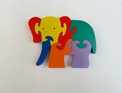 Grosir Puzzle 3d Hewan Gajah Kayu Murah