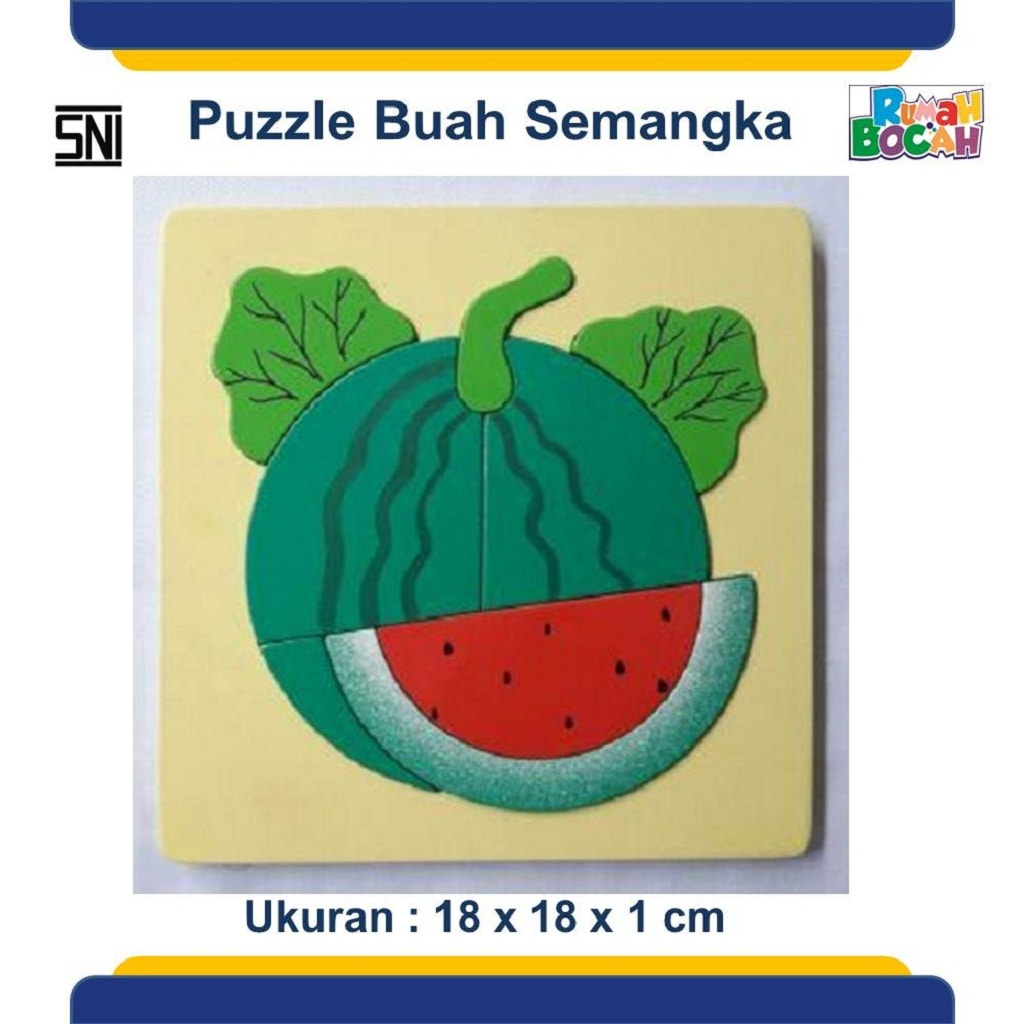 Pusat Grosir Mainan Edukasi Anak Puzzle kayu buah
