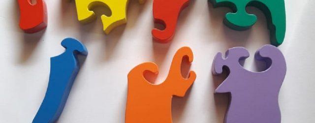 Grosir Mainan Edukatif puzzle 3d hewan gajah