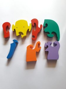 Jual Mainan Edukasi Anak 4 Tahun puzzle 3d hewan gajah