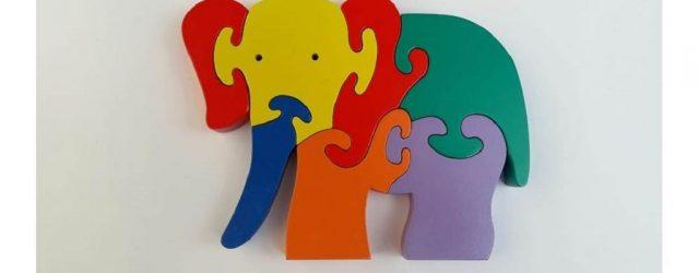 JProdusen Alat Peraga Paud Puzzle 3d Hewan Gajah