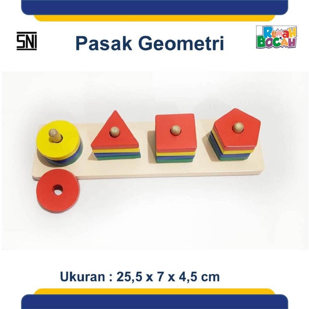 Jual Mainan Kayu Edukatif Pasak geometri