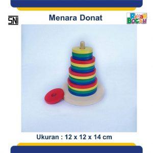 Jual Mainan Balok Kayu Susun Menara Pelangi