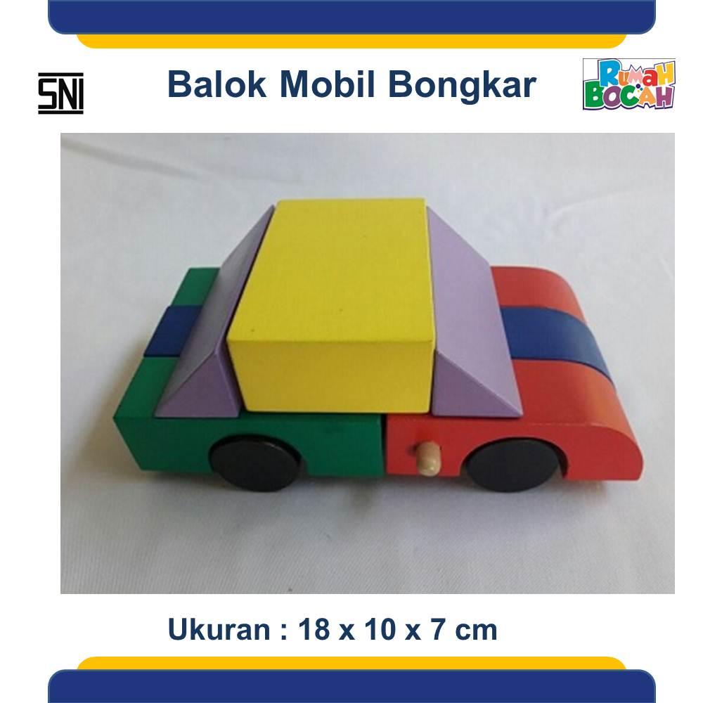 Jual Mainan Balok Mobil Kayu Murah