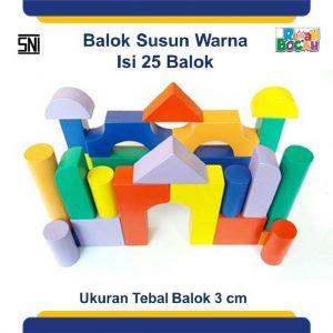 Jual Mainan Edukatif Anak 3 Tahun Balok Susun Warna