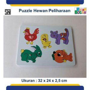 Jual Mainan Puzzle Kayu Hewan Peliharaan