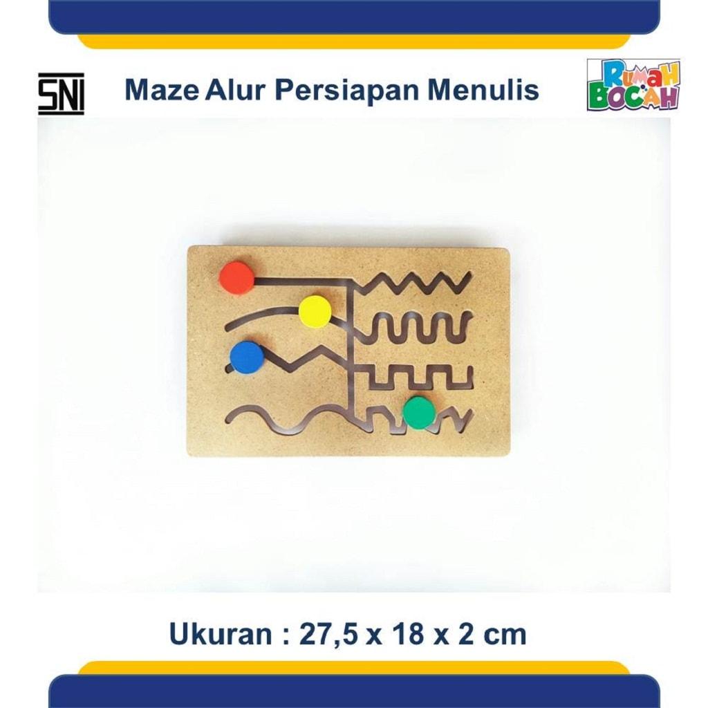 Jual Mainan Anak Edukatif Online Maze Alur Persiapan Menulis