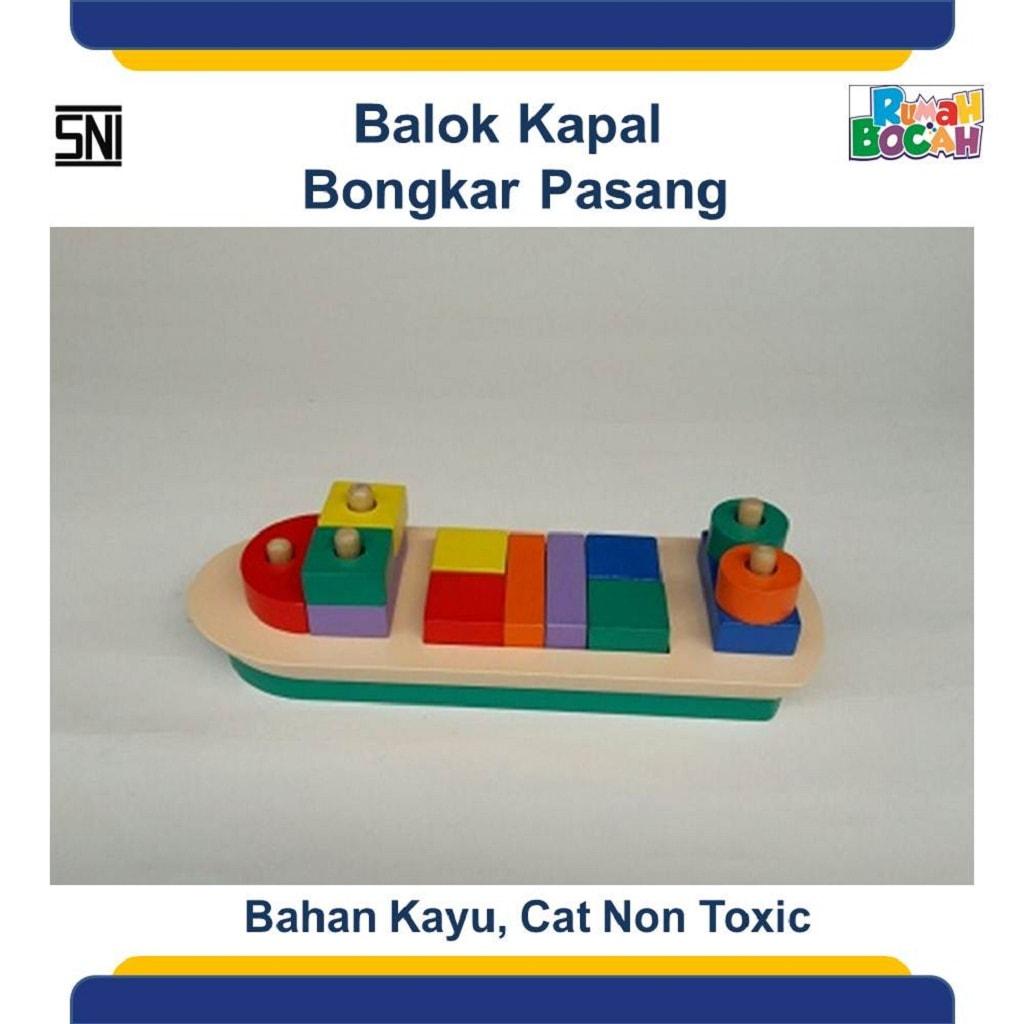 Jual Mainan Edukasi Untuk Balita Balok Kapal Bongkar Pasang