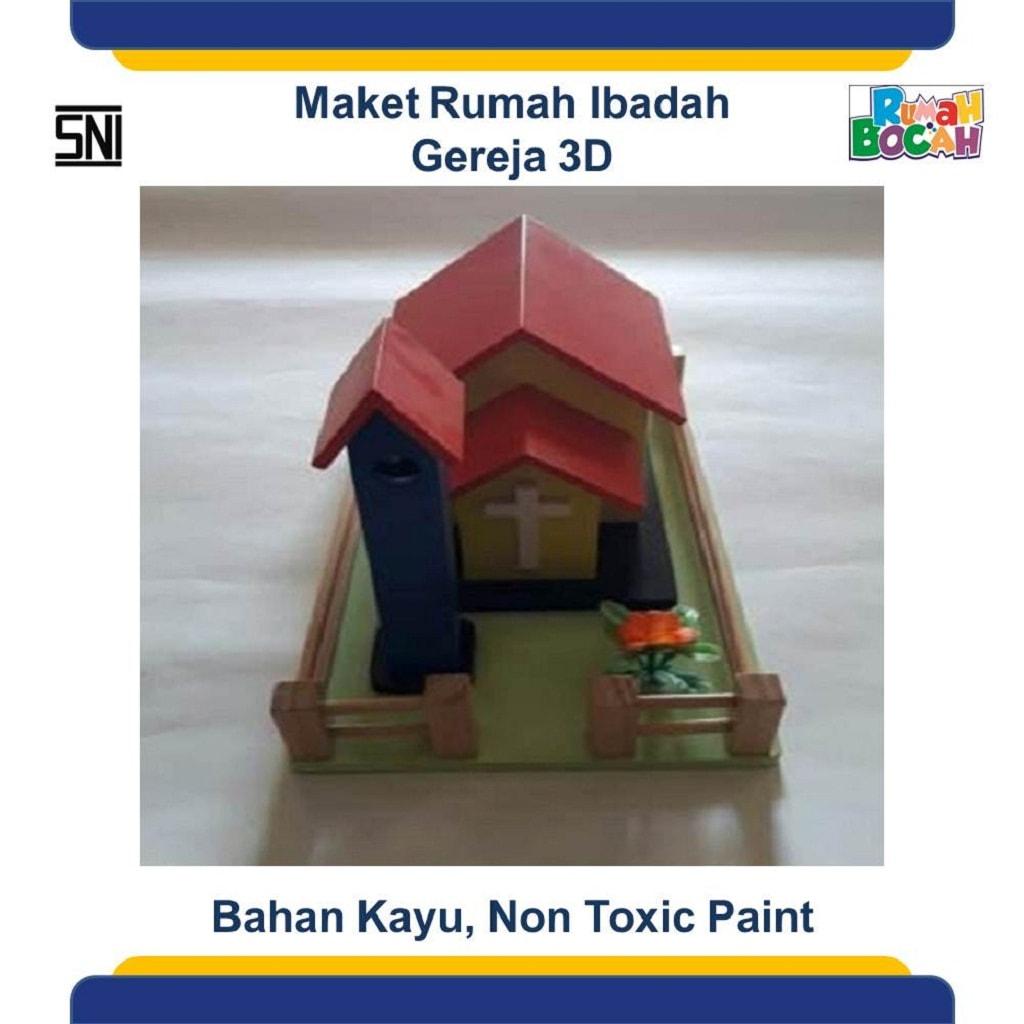 Jual Mainan Edukatif Dari Kayu Maket Miniatur Rumah Ibadah Gereja