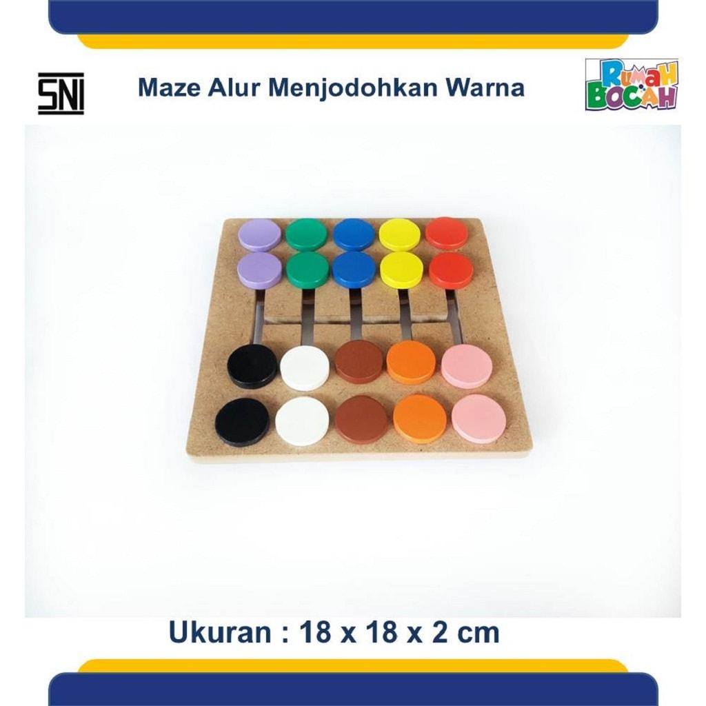 Jual Mainan Kayu Anak Maze Alur Mengenal Warna
