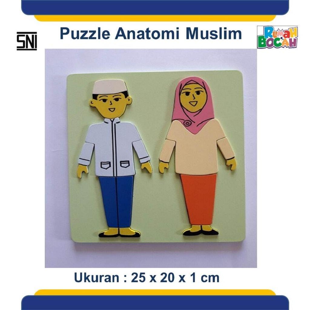 Jual Puzzle Kayu Anatomi Tubuh Murah